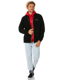 BLACK MENS CLOTHING STUSSY JACKETS - ST087401BLK