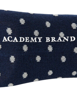 NAVY BURGUNDY SPOT MENS CLOTHING ACADEMY BRAND SOCKS + UNDERWEAR - 19S004NVYBR