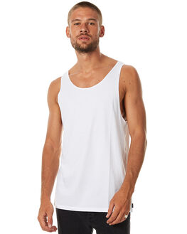 VINTAGE WHITE MENS CLOTHING SILENT THEORY SINGLETS - 4081002VWHI