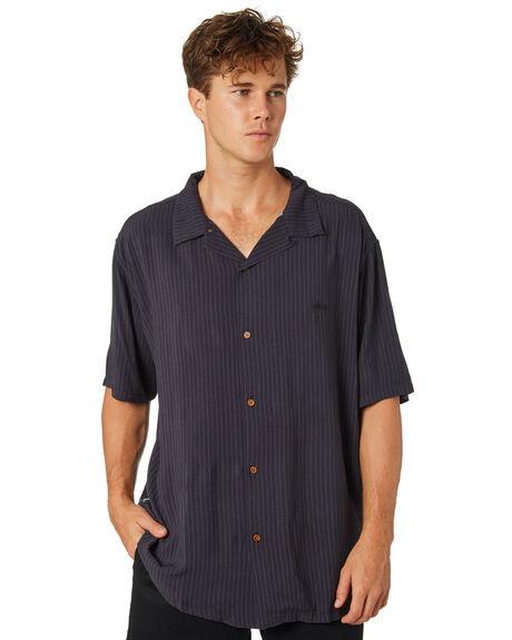 BLACK CHARCOAL MENS CLOTHING STUSSY SHIRTS - ST083413BLKCH