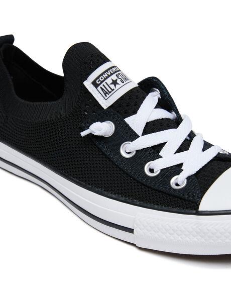 BLACK WOMENS FOOTWEAR CONVERSE SNEAKERS - 565489CBLK