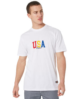 WHITE MENS CLOTHING DICKIES TEES - K3190114WH