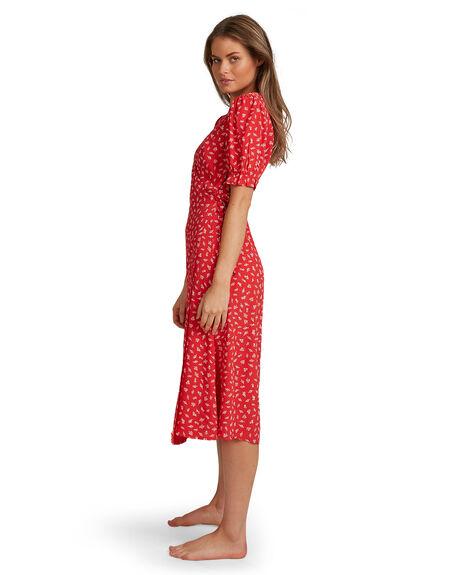 FIESTA RED WOMENS CLOTHING BILLABONG DRESSES - BB-6504507-FTR