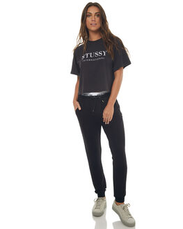 BLACK WOMENS CLOTHING STUSSY PANTS - ST172A03BLK