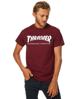 MAROON MENS CLOTHING THRASHER TEES - 311027MAR