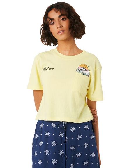 FADED YELLOW WOMENS CLOTHING VOLCOM TEES - B3541804FDY