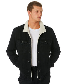 FADED BLACK MENS CLOTHING THRILLS JACKETS - TDP-226FBFBLK