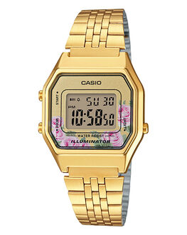 GOLD FLORAL WOMENS ACCESSORIES CASIO WATCHES - LA680WGA-4CGLDFL