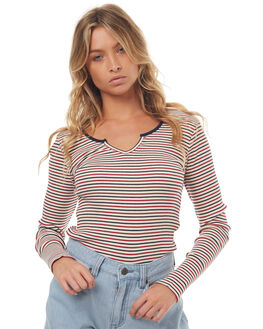 MULTI STRIPE WOMENS CLOTHING ALL ABOUT EVE FASHION TOPS - 6493013MULTS