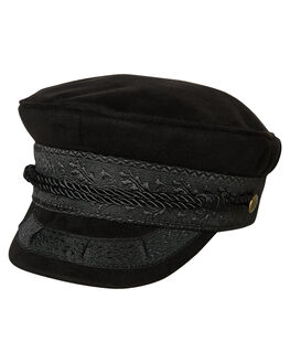 BLACK FAUX SUEDE WOMENS ACCESSORIES BRIXTON HEADWEAR - 00713BKFSU