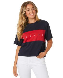 NAVY WOMENS CLOTHING HUFFER TEES - WTE91S7208NAV