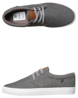 GREY TWEED MENS FOOTWEAR GLOBE SKATE SHOES - GBWILLOW-15136