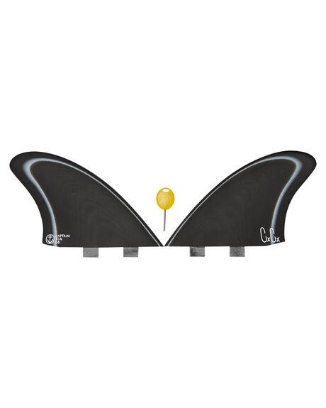 BLACK WHITE BOARDSPORTS SURF CAPTAIN FIN CO. FINS - CFF3411806BWHT