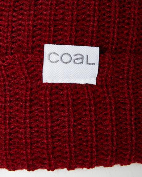 DARK HEATHER RED OUTLET MENS COAL HEADWEAR - 221502DHR
