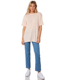 ICE PINK WOMENS CLOTHING STUSSY TEES - ST191002ICEPK