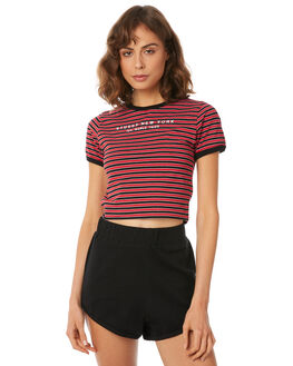 RED STRIPE WOMENS CLOTHING STUSSY TEES - ST182111RED