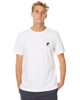 WHITE MENS CLOTHING RVCA TEES - R171066WHT