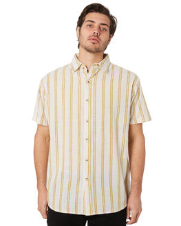 YELLOW STRIPE MENS CLOTHING MOLLUSK SHIRTS - MS1257YST