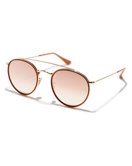 GOLD PINK UNISEX ADULTS RAY-BAN SUNGLASSES - 0RB3647N0017O