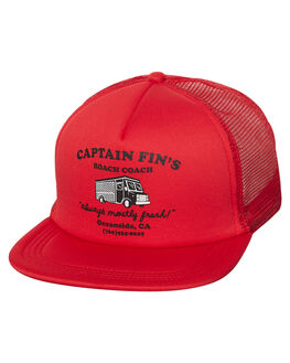 RED MENS ACCESSORIES CAPTAIN FIN CO. HEADWEAR - CH181039RED