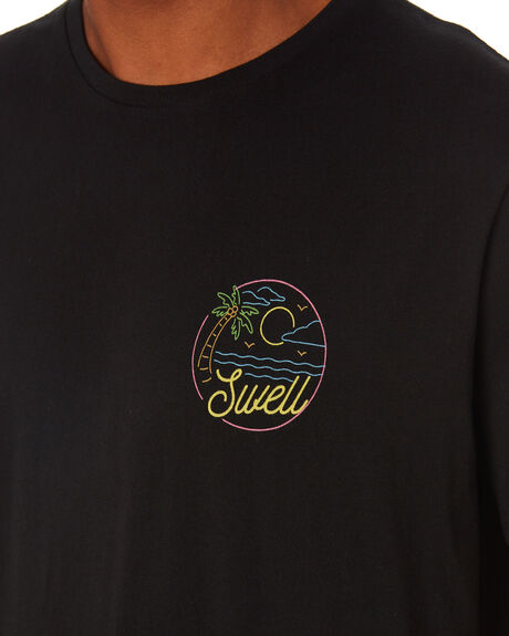 BLACK MENS CLOTHING SWELL TEES - S5203004BLACK