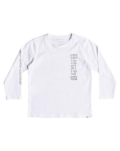 WHITE KIDS BOYS QUIKSILVER TOPS - EQKZT03237WBB0
