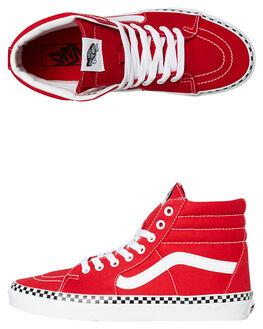 RACING RED WOMENS FOOTWEAR VANS SNEAKERS - SSVNA38GEVS5RREDW