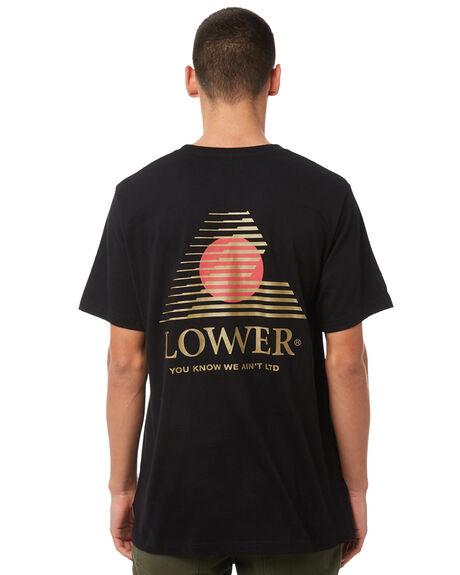 BLACK MENS CLOTHING LOWER TEES - LO18Q3MTS05BLK