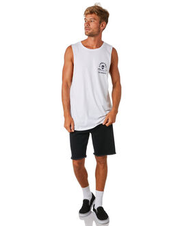 WHITE MENS CLOTHING SEA SHEPHERD SINGLETS - SSA896BWHT