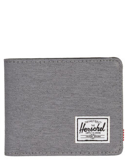 MID GREY CROSSHATCH MENS ACCESSORIES HERSCHEL SUPPLY CO WALLETS - 10368-02137-OSMGRY