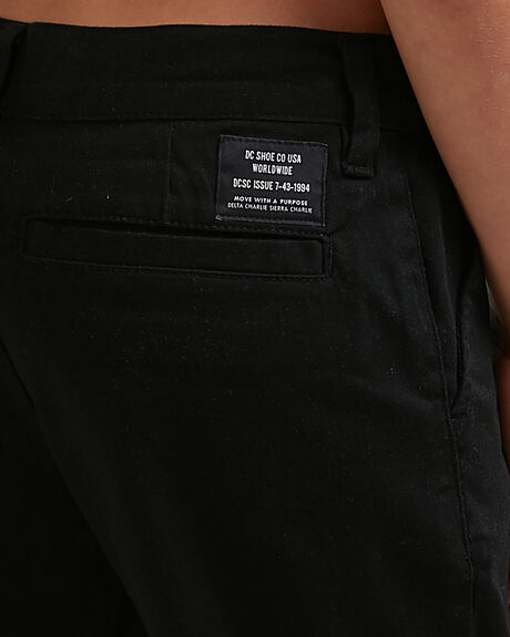 BLACK KIDS BOYS DC SHOES SHORTS - ADBWS03008-KVJ0