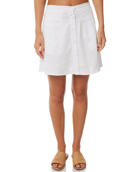 WHITE OUTLET WOMENS RUE STIIC SKIRTS - S118-63WHT