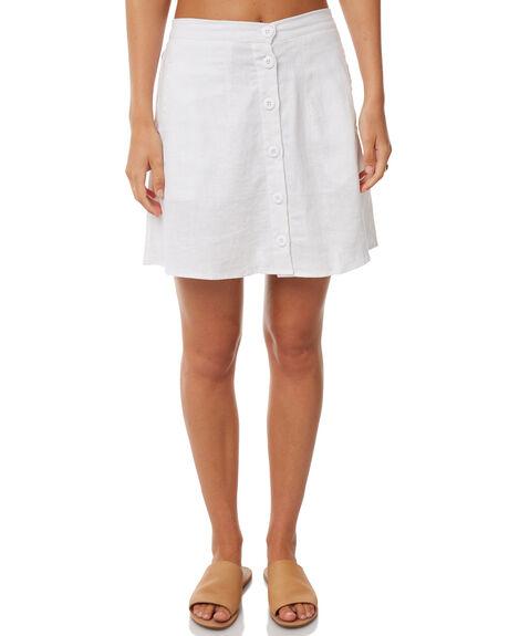WHITE WOMENS CLOTHING RUE STIIC SKIRTS - S118-63WHT