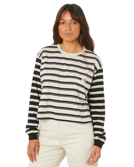 WHITE SAND WOMENS CLOTHING STUSSY TEES - ST105106_WSND