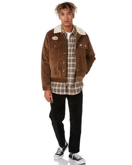 TOBACCO MENS CLOTHING DEUS EX MACHINA JACKETS - DMF206590TOBCO