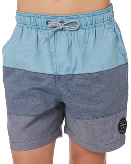 TEAL KIDS BOYS RIP CURL SHORTS - KWAMM14821