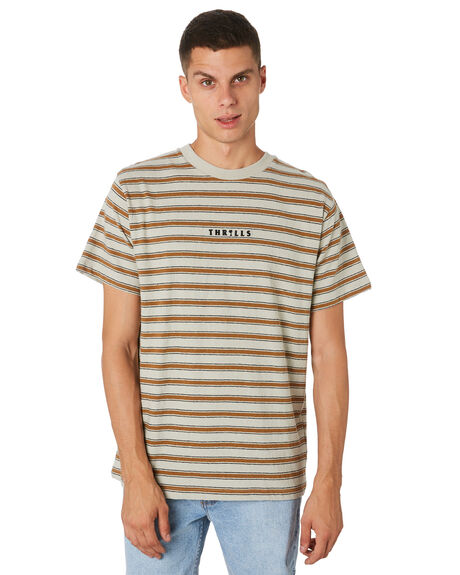 CEMENT MENS CLOTHING THRILLS TEES - TH9-101GCEMNT