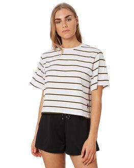 WHITE YELLOW WOMENS CLOTHING HUFFER TEES - WTE94S4104WHI