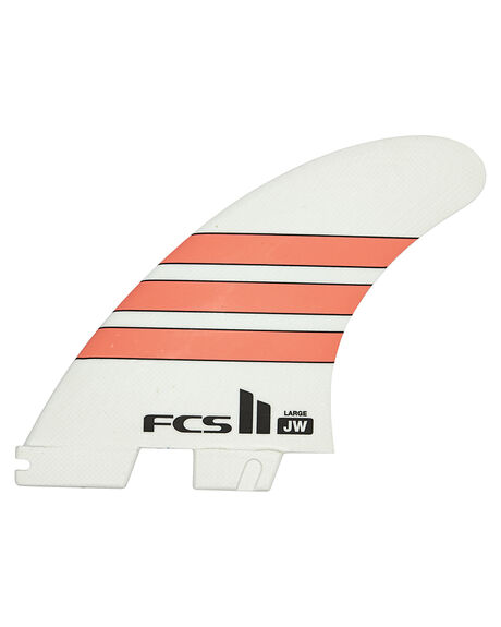 RED WHITE SURF HARDWARE FCS FINS - FJWL-PG02-LG-TS