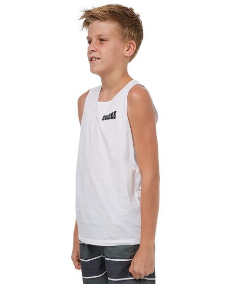 WHITE KIDS BOYS SWELL SINGLETS - S3183271WHITE