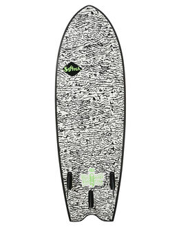 BLACK WHITE BOARDSPORTS SURF SOFTECH SOFTBOARDS - KYSII-WHT-058BLKWH