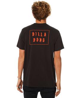 BLACK MENS CLOTHING BILLABONG TEES - 9582035BLK