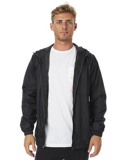 BLACK MENS CLOTHING VOLCOM JACKETS - A1511704BLK