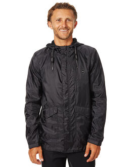 BLACK MENS CLOTHING SWELL JACKETS - S5162381BLK