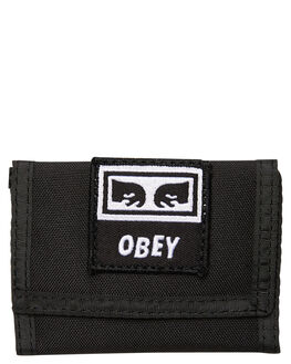 BLACK MENS ACCESSORIES OBEY WALLETS - 100310099BLK