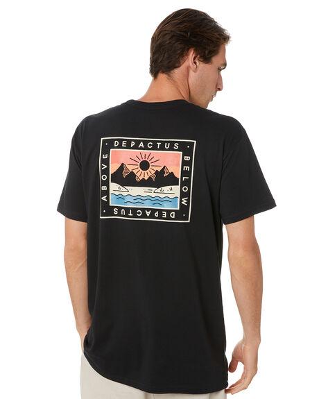 BLACK MENS CLOTHING DEPACTUS TEES - D5194002BLK