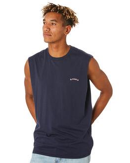 NAVY ACID MENS CLOTHING BARNEY COOLS SINGLETS - 136-CC3NVYAC