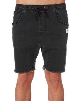 VINTAGE BLACK MENS CLOTHING RUSTY SHORTS - WKM0952VBL