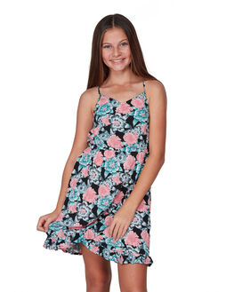 ANTHRACITE CRYSTAL KIDS GIRLS ROXY DRESSES + PLAYSUITS - ERGWD03082-XKKB