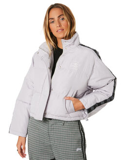 WARM GREY WOMENS CLOTHING STUSSY JACKETS - ST196706WGRY